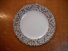 "Wedgwood silver lustre pearlware roses 8 1/4"" salad plate A5734 ca 1926"