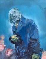 Original Abstract Gotham Joker Monaghan Valeska Wall Art Acrylic Painting 11x14