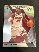 Kendrick Nunn 2019-20 Panini Mosaic Base NBA Debut #268 RC Miami Heat Rookie