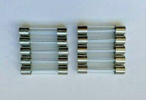 10 x 4A Slow Blow 32mm Fuses 250v Glass Fuse 4AL 4 Amp - Freepost UK