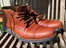 Cole Haan Mens Shoes Sz 11 Lunar Oxford Dress Casual Boots Leather Brown Red