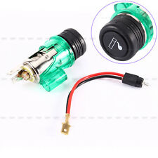 High Quality Car Motorcycle 12V Cigarette Lighter Power Socket Plug Outlet Green