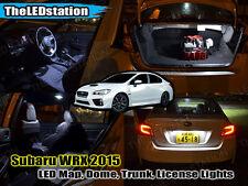 White LED Interior Map Dome Cargo License Plate Lights Kit 2015 WRX Sedan