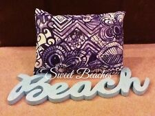Beach Pillow Covers Deep Navy and Cream  Seahores Ocean Seaside By Sweet Beaches