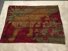 Vintage Heavy Horsehair Carriage Buggy Blanket Sleigh Lap Robe Tiger Red Green