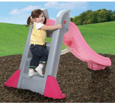 Big Folding Pink Outdoor Slide Toddlers Kids Plastic Playground Portable Toy