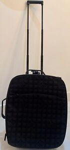 chanel travel line Rolling Suitcase Trolley Bag Black