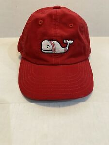 Vineyard Vines Whale Baseball Stitch Cap Red White Blue Kids Strapback Hat