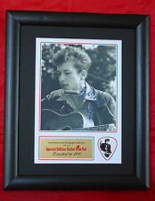 Bob Dylan  Preprinted Autograph/Guitar Pick Display Mounted & Framed