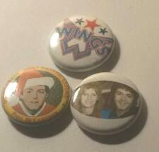 3 PAUL + LINDA MCCARTNEY AND WINGS BADGES MINT CONDITION THE BEATLES