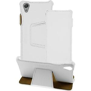 genuine Leather Case for Sony Xperia X - Leather-Case white + glass film