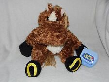 WITH TAG CHAD VALLEY BROWN HORSE PONY SOFT TOY COMFORTER DOUDOU