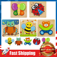5 pcs Wooden Jigsaw Puzzles for Toddlers 1 2 3 Years Old, Early Educational Toys