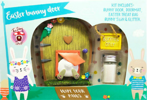 Easter Bunny Fairy Door and Accessory Set