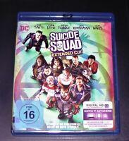Suicide Squad Cinema + Esteso Cut Doppio blu ray Einmal Gelaufen