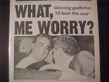 VINTAGE NEWSPAPER HEADLINE ~MOBSTER CRIME GANG MOB GODFATHER JOHN GOTTI NY COURT