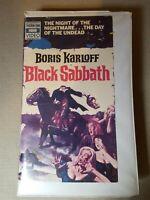 Black Sabbath (1963) Thorn EMI Boris Karloff Orion HBO Rare VHS Clam Shell Case