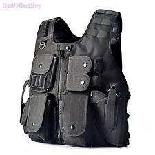 Tactical SWAT Vest Military Assault Combat CS Game Molle Ammo Gear Holster S-XXL
