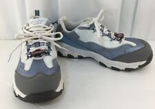 Skechers D'Lite Safety-Toe EH Work Shoe 76442  Womens Size 9 White-Blue-Gray
