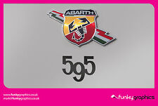 FIAT 500 ABARTH 595 NUMBERS SIDE STICKER, DECAL, GRAPHIC x2 (Choice of colours)