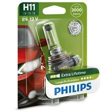 Philips Longlife Ecovision H11 Bombillas Para Faro Coche  (1 Unidad)