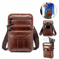 Vintage Men Leather Fashion Phone Pouch Belt Bag Shoulder Crossbody Waist Pack