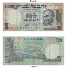 Old 100 Rupees Note With Auspicious Number Of 786 Lucky Holy number. G5-81 US