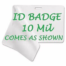 Corbin Qualty ID BADGE Laminating Pouches 2.56 X 3.75 (100) With Slot 10 Mil