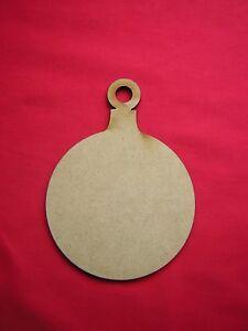 MDF CHRISTMAS BAUBLE 10cm or 12cm wide (4 x 10cm or 3 x 12cm)