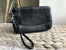 Coach black genuine leather purse wallet wristlet