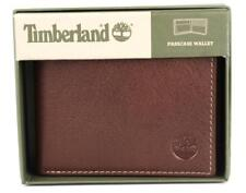 TIMBERLAND MEN'S PREMIUM GENUINE LEATHER PASSCASE WALLET BROWN NEW TAG GIFT BOX