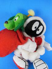 "Marvin the Martian Santa Claus & K-9 Plush Warner Brothers Studio Store 8"" Rare"
