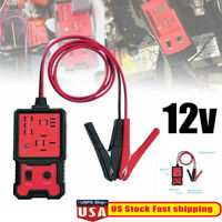 12V Electronic Automotive Relay Tester For Cars Auto Battery Checker Tool Red US