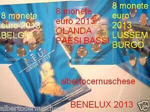 2013 Benelux 24 monete 11,64 euro Belgio Olanda Lussemburgo Belgique Pays bas