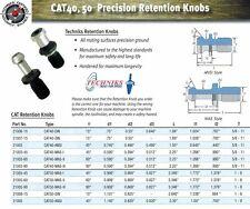 Techniks CAT40 Retention Knob 21003-45 Solid Pull Stud 45 Degrees 40 Pcs