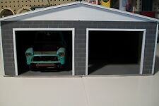 """MUST BE ASSEMBLED"" 2 CAR GARAGE  FOR 1:18 SCALE DIECAST BY: cbcustomtoys"