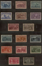 US #230 - 245 COMPLETE ORIGINAL COLUMBIAN MINT STAMP SET (ALL 16 ISSUES) 1893