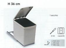 Pattumiera Estraibile su Scine Grigia - Sottolavello - 1 Secchio da 16 litri