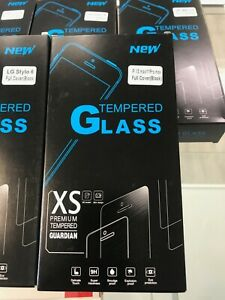 Lot of 10 x Tempered GLASS Screen Protector for Apple iPhone LG Samsung Moto blk