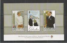 Gibraltar 2012 Royal visita MINIPLIEGO SG, MS1464 u/Mm N/H Lote 3824A