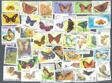 Butterflies & Moths 100 all different stamps collection