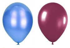 "Baby Blue & Burgundy 12"" Metallic Birthday Balloons, Parties & Occasions"