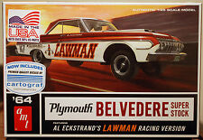 1964 Plymouth Belvedere SUPER STOCK Lawman, 1:25, AMT 986 NUOVO 2017 NUOVO