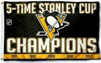 NEW Pittsburgh Penguins Flag Large 3X5 5 Cup Hockey Banner NHL FREE SHIPPING!