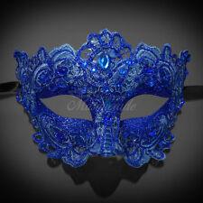 Masquerade Mask Lace Royal Blue Venetian Mardi Gras for Women M7632