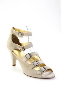 J Crew Womens Suede Averill Strappy High Heels Beige Size 10