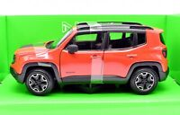 Model Car Jeep Renegade Scale 1:24 diecast WELLY modellcar Static Red