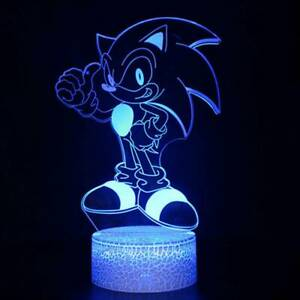 KIds Gifts 3D LED Night Light Acrylic Sonic The Hedgehog 7Color Touch Table Lamp