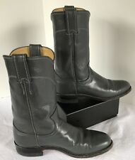 Justin Boots Women's Gray 6.5AA Roper Mid-Calf Leather