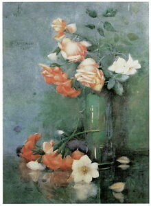 """Katherine Cameron """"Still Life with Roses"""" HQ CANVAS or PAPER PRINT up to 24x36"""